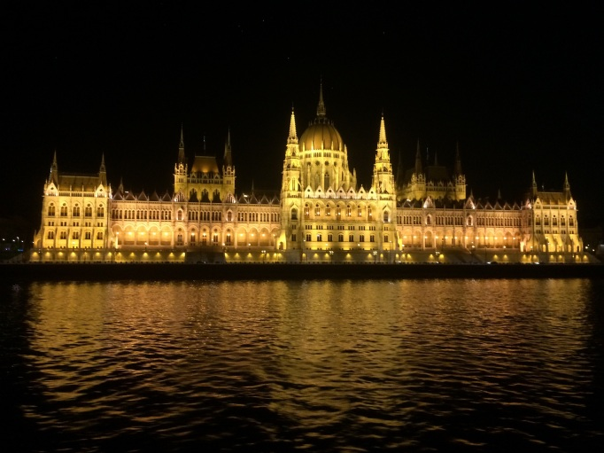 Parliament in Budapest at night